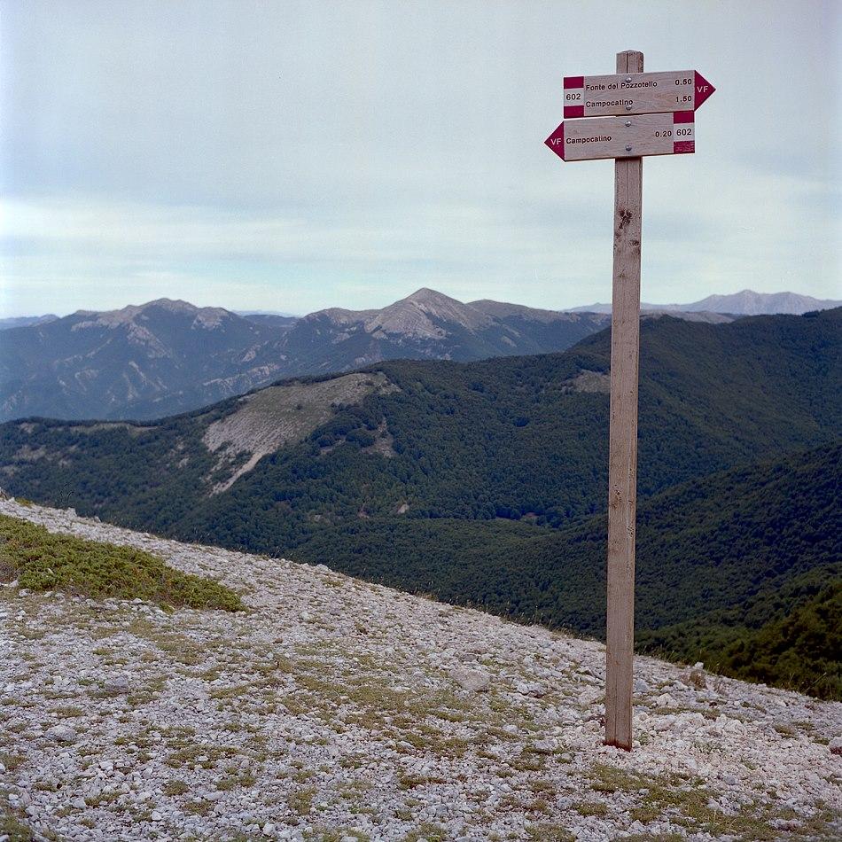 Segnaletica, Monti Ernici - ph. F.Ferreri