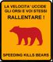 Segnaletica del progetto di Sicurezza Stradale