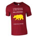 "T-shirt uomo ""Rallentare"" rossa"
