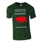 """T-shirt uomo """"Rallentare"""" verde"""