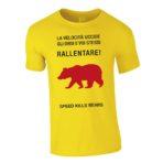 """T-shirt uomo """"Rallentare"""" gialla"""
