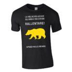 "T-shirt uomo ""Rallentare"" grigia"